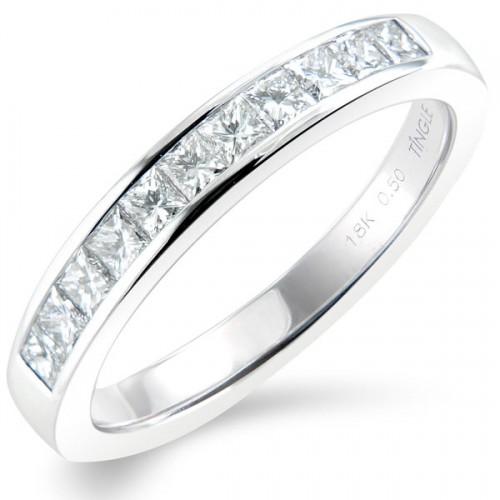 0 50ct princess cut half eternity ring princess cut