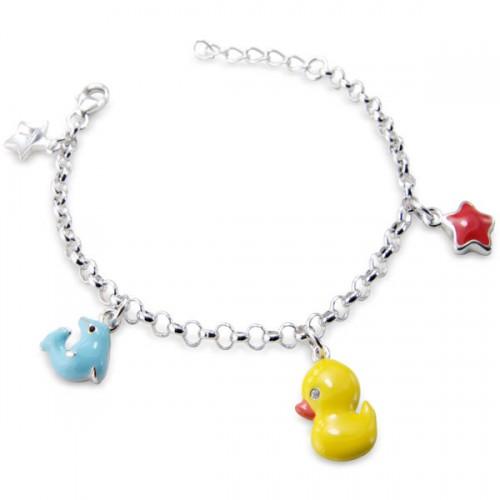 Silver Child S Charm Bracelet