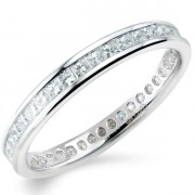 0.75ct Princess Cut Full Eternity Ring