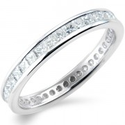 1.00ct Princess Cut Full Eternity Ring