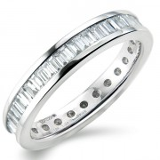 1.00ct Baguette Cut Full Eternity Ring