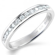 0.25ct Brilliant Cut Half Eternity Ring