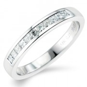 0.25ct Princess Cut Half Eternity Ring
