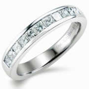 0.75ct Princess Cut Half Eternity Ring