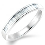 0.25ct Baguette Cut Half Eternity Ring