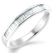 0.25ct Baguette Cut Half Eternity Ring