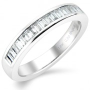 0.50ct Baguette Cut Half Eternity Ring