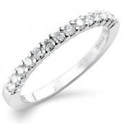 0.25ct Brilliant Cut Half Eternity Ring