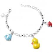 Silver Child's Charm Bracelet